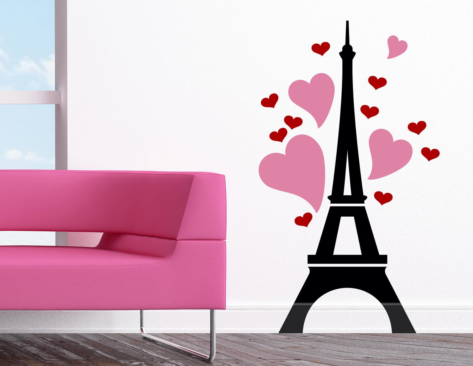 Wandtattoo Paris mon Amour