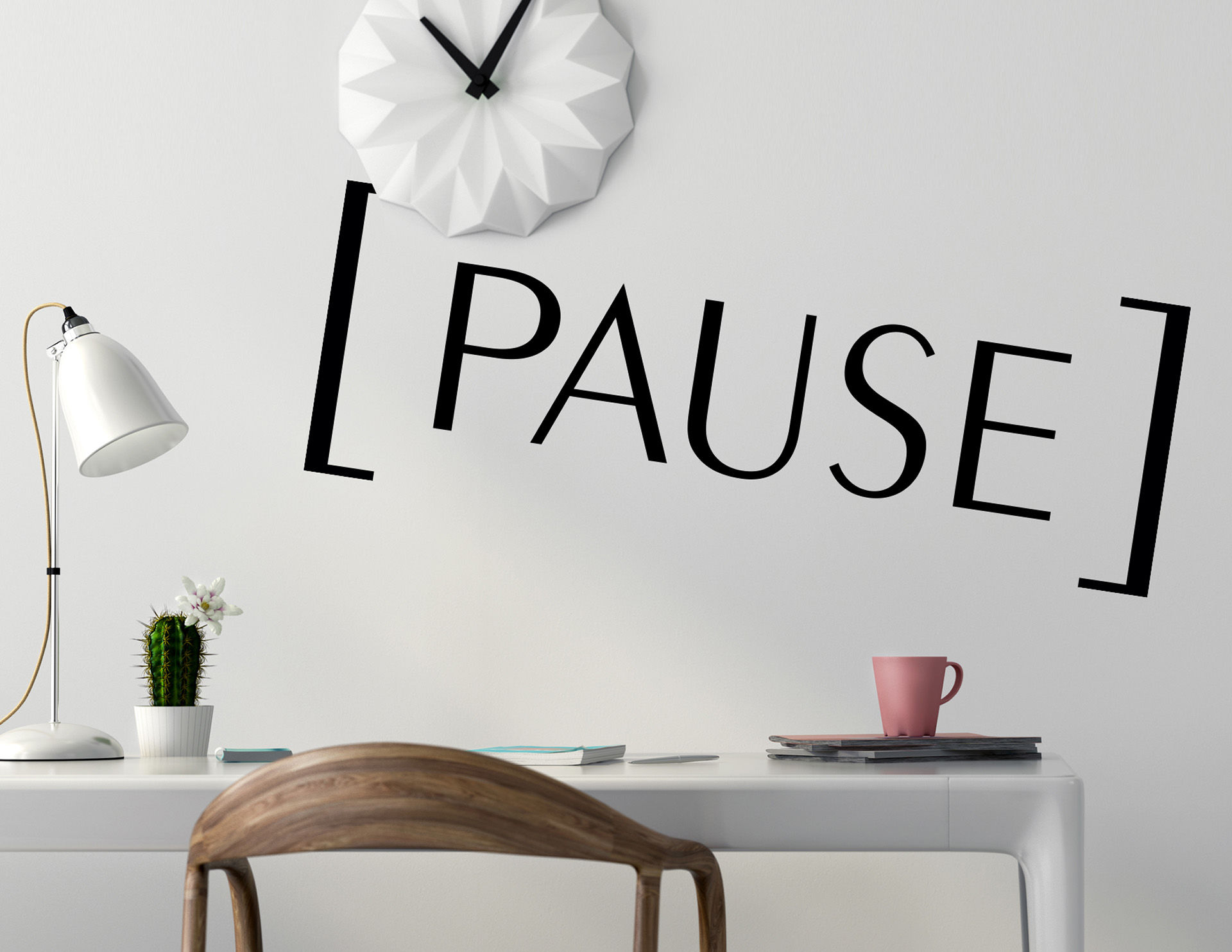 Wandtattoo Pause