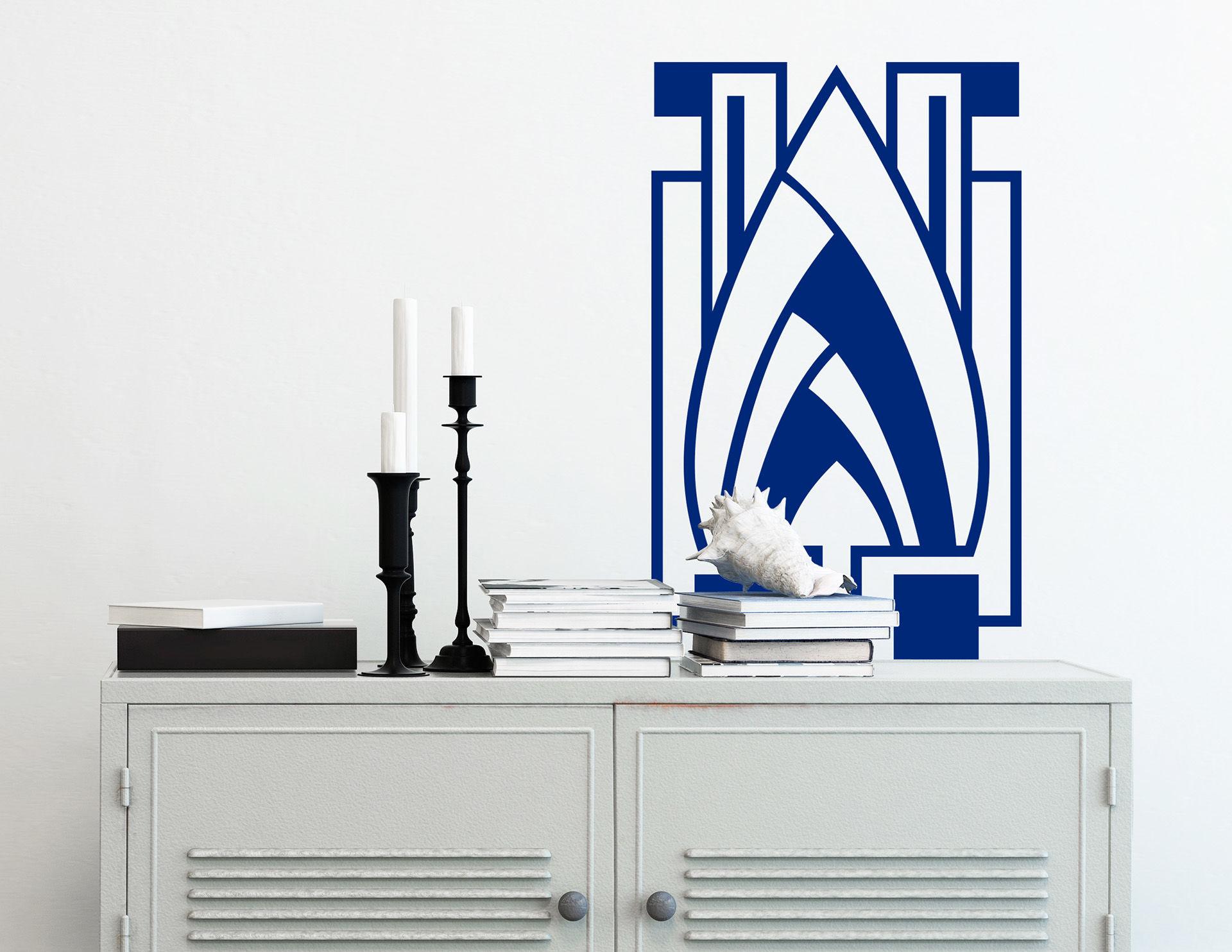 Wandtattoo mit edlem Jugendstil-Motiv: Art Nouveau - Flèche