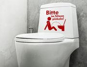 WC-Aufkleber Setz Dich für Bad und Gästetoilette