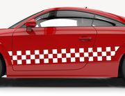 Autoaufkleber Racing-Squares-Set
