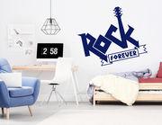 """Wandtattoo """"Rock forever"""": Let's rock together!"""