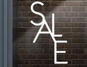 """Schaufenster Aufkleber """"Modern Sale"""" für Laden & Geschäft"""