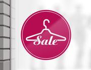 """Aufkleber """"Sale Fashion"""" für Schaufenster & Gewerbe"""