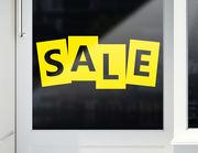 """""""Classic Sale"""" Aufkleber für Schaufenster & Shop"""