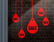 """Aufkleber """"Sale Drops"""" für Sale und Sonderaktionen"""