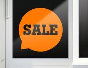 Aufkleber Talking Sale