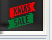 Aufkleber XMAS Sale Banner