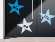 Aufkleber Prozente Stars