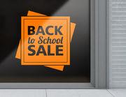 Aufkleber Back to School Sale
