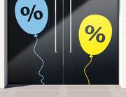 Aufkleber Prozente Luftballon