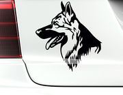 """Autoaufkleber """"Schäferhund Butch"""" ein stattlicher Vierbeiner"""