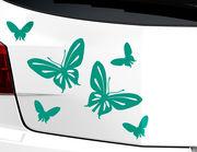 """Autoaufkleber """"Schmetterlingsausflug"""": 6 sympathische Falter"""