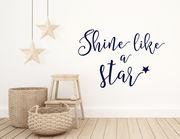 """Wandtattoo """"Star Shine"""" leuchtet wie ein Stern"""