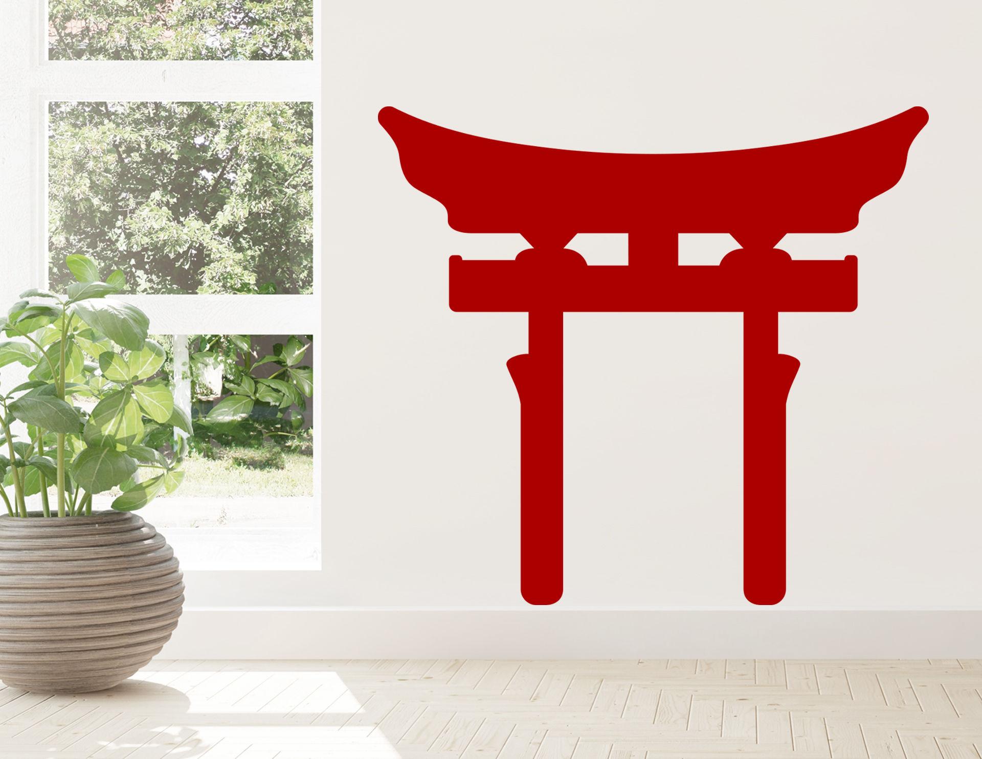 Wandtattoo Shinto Torii