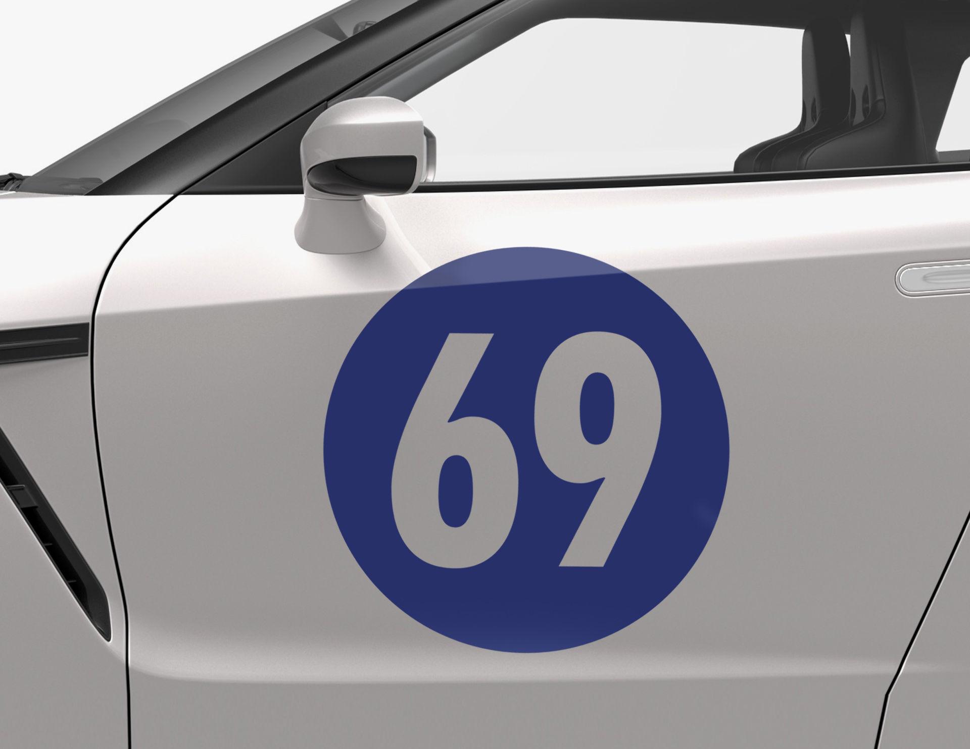 Autoaufkleber Sixty Nine