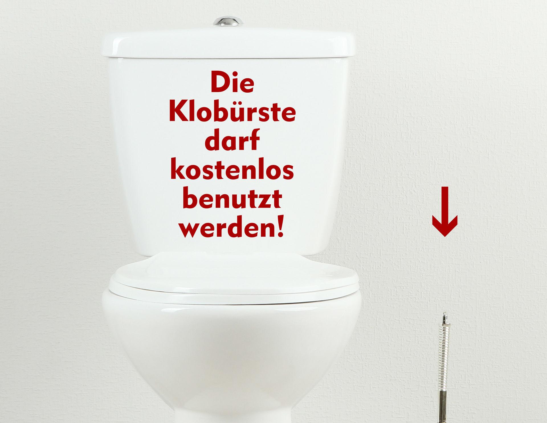Benutz mich - WC-Aufkleber für Bad und Gästetoilette