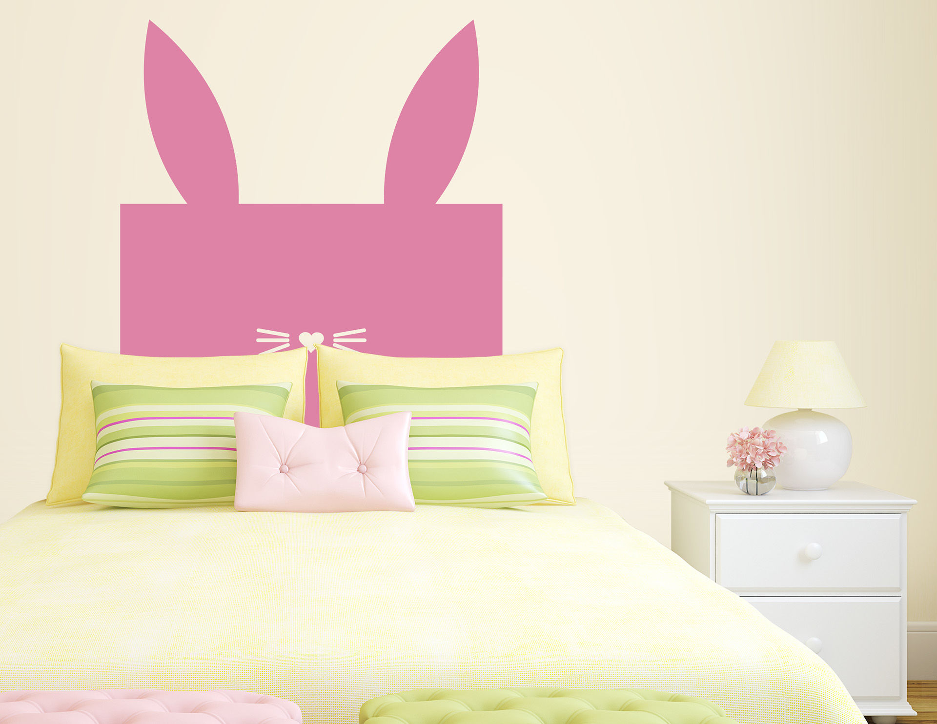 wandtattoo box bunny. Black Bedroom Furniture Sets. Home Design Ideas