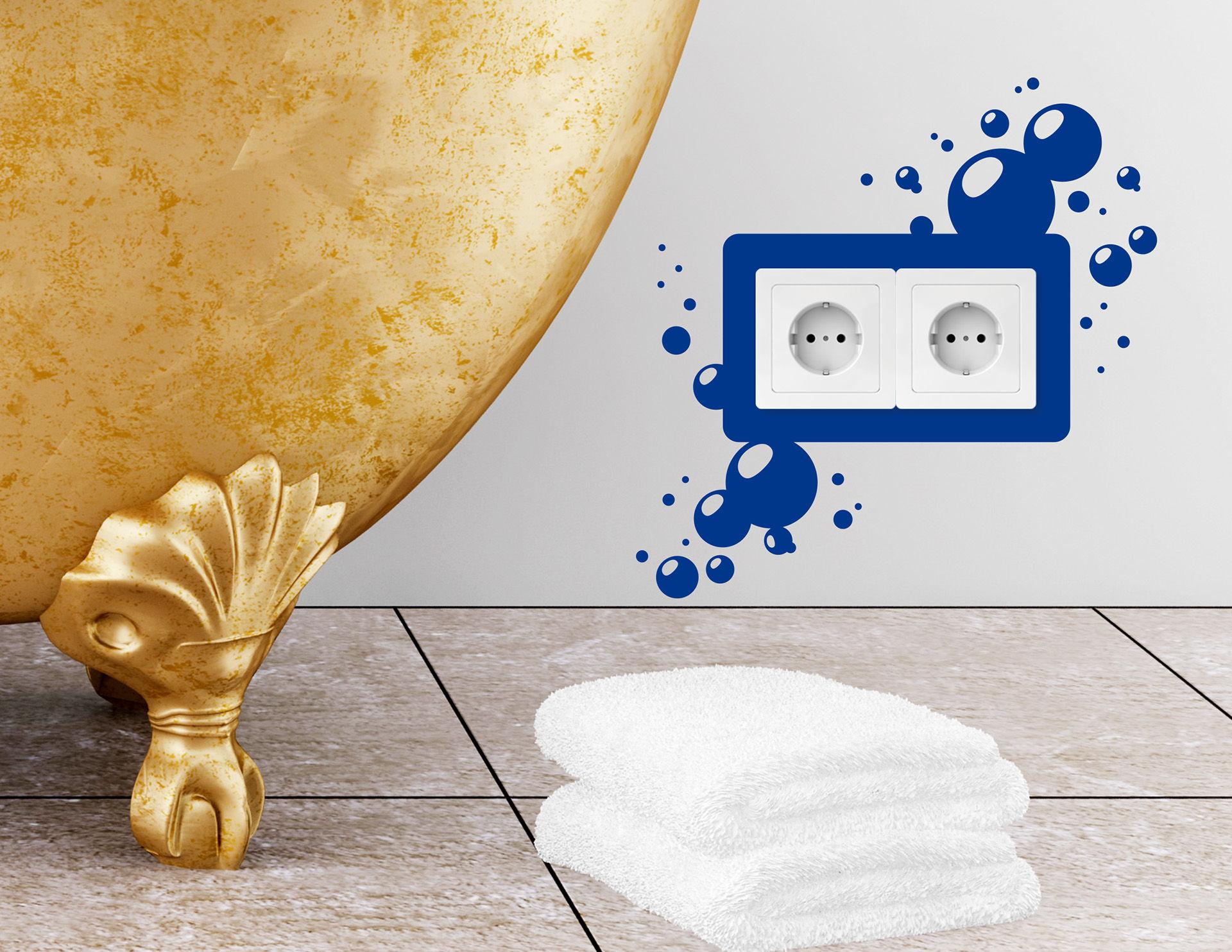 Wandtattoo Bubbles #2 für Lichtschalter und Steckdose