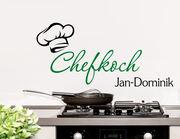 Chefkoch - Wandtattoo mit Wunschname für die Küche