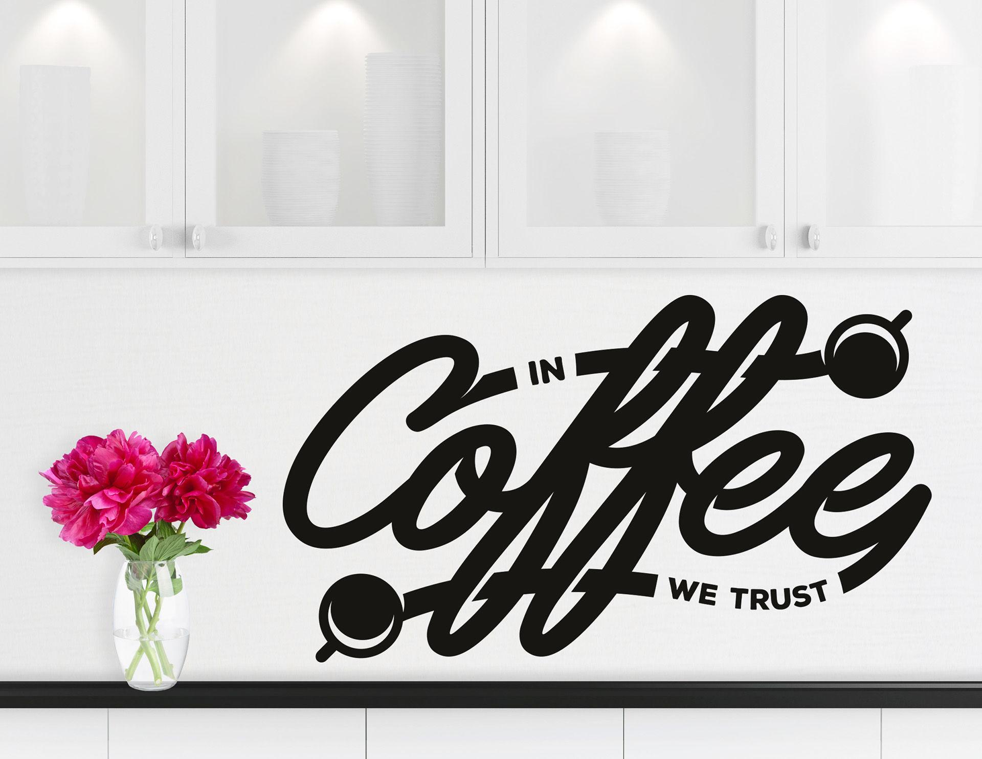 """Wandtattoo """"Coffee Trust"""" weckt Lust auf Kaffee"""