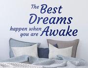 """Wandtattoo """"Die besten Träume"""" für einen guten Tag"""