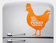 Wandtattoo Funky Chicken