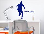 Fußballer des Jahres - Wandtattoo + Wunschname für Sportfans
