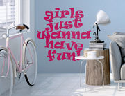 Wandtattoo Girls Fun macht einfach Spaß.