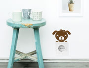 Wandtattoo Hundebaby für Lichtschalter und Steckdose