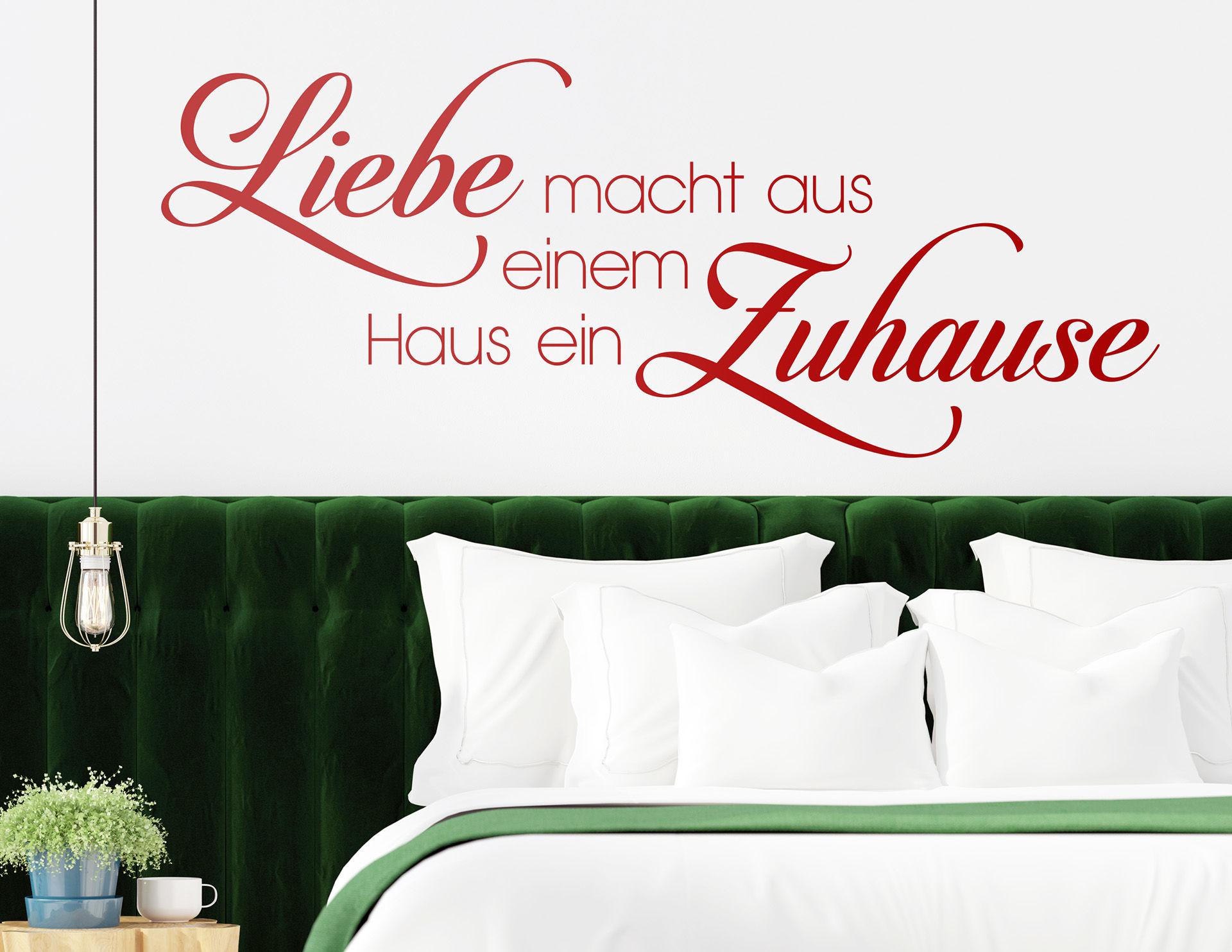 "Tolles Wandtattoo ""Liebe macht Zuhause"""