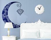 """Wandtattoo """"Mond Laterne Diamant"""" für schöne Nächte"""