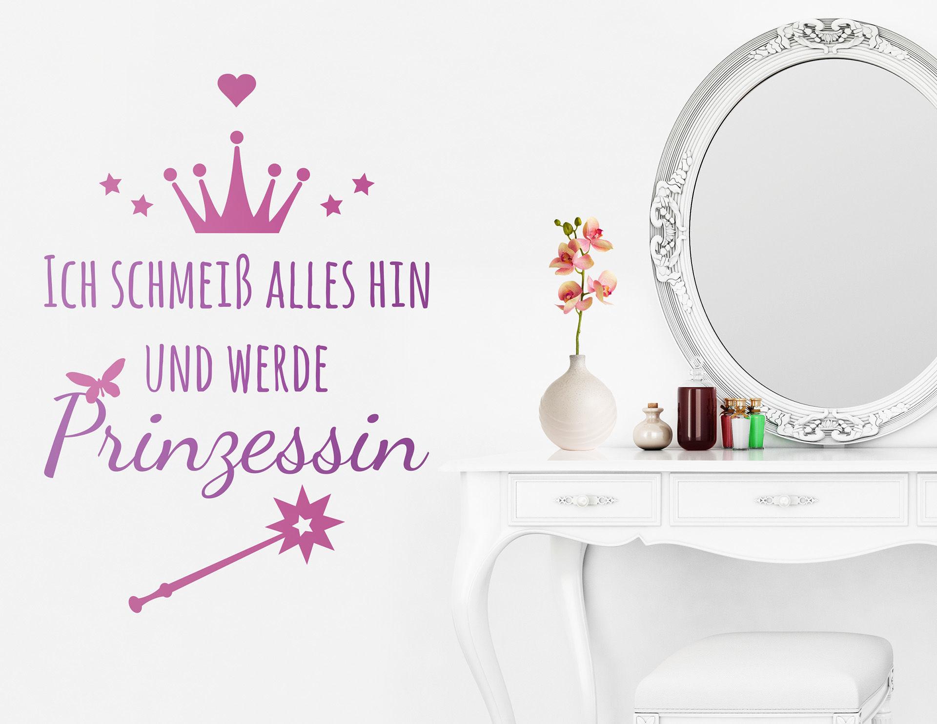 """Wandtattoo """"Prinzessin werden"""" setzt neue Ziele"""