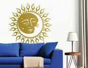"""Wandtattoo """"Sonne und Mond"""" als Zeichen der Liebe"""