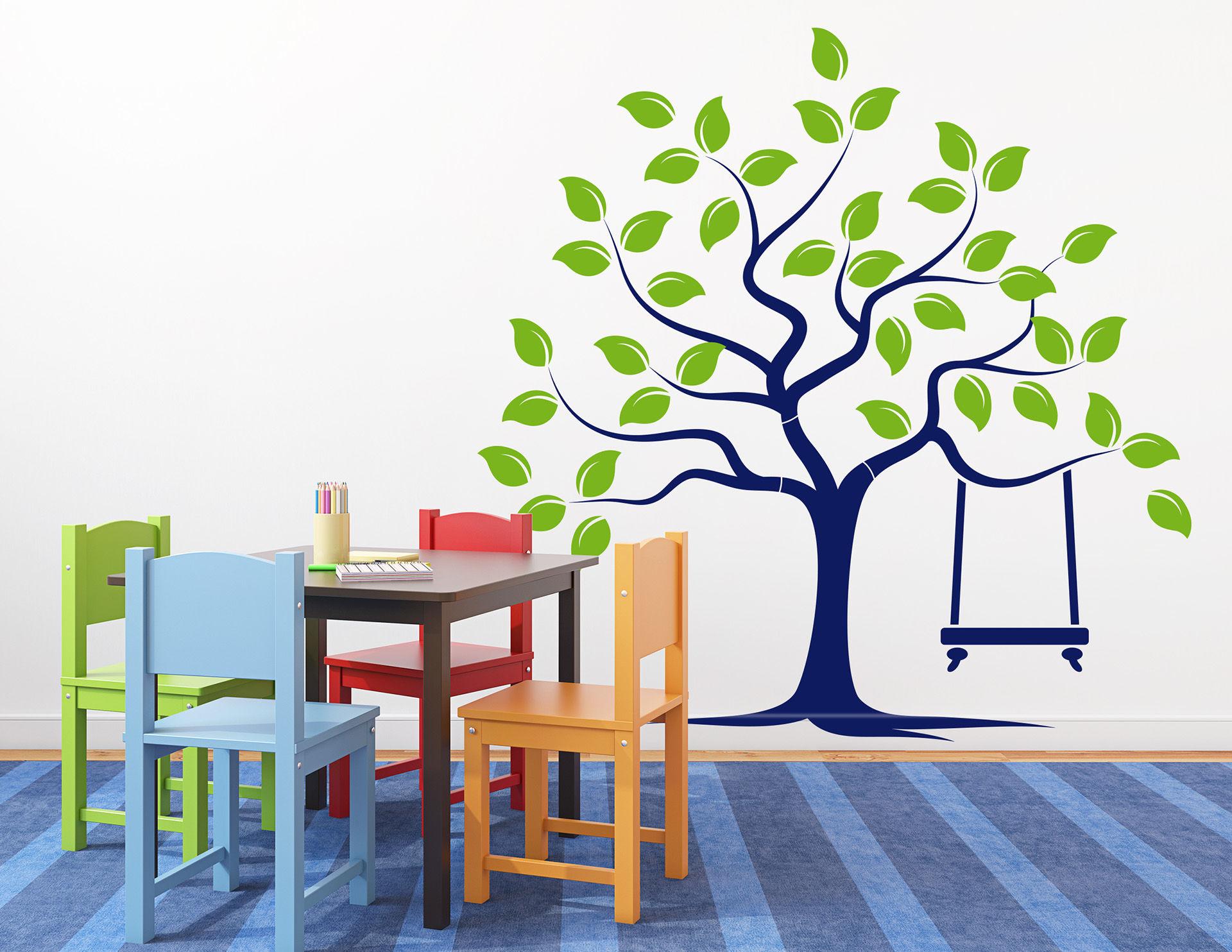 """Wandtattoo """"Traumschaukelbaum"""" für natürliches Flair"""