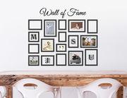 Wandtattoo Wall of Fame - mit 17 Bilderrahmen für Fotos