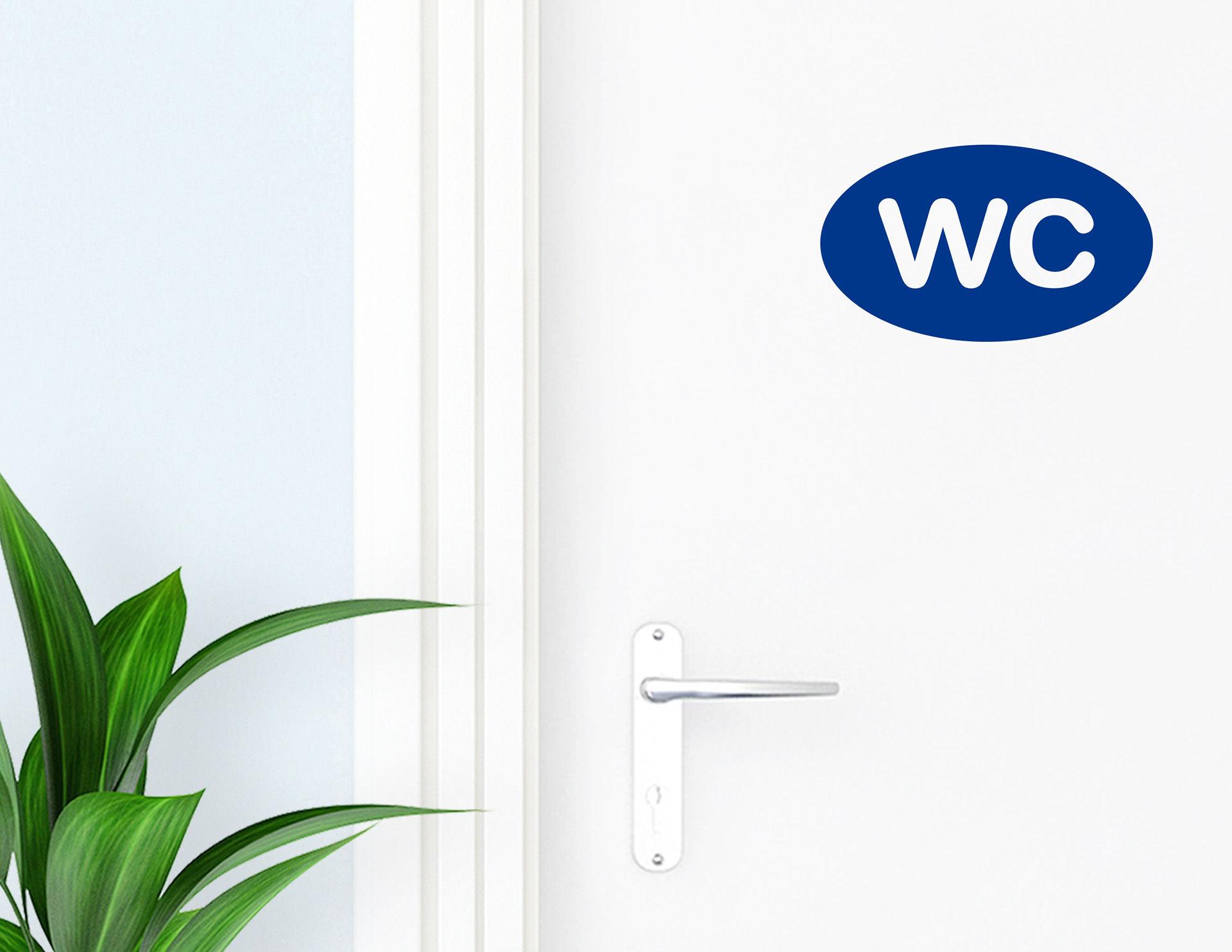 WC - Aufkleber für die Tür in Bad und Gästetoilette