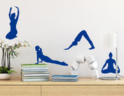 Wandtattoo Yoga Quartett