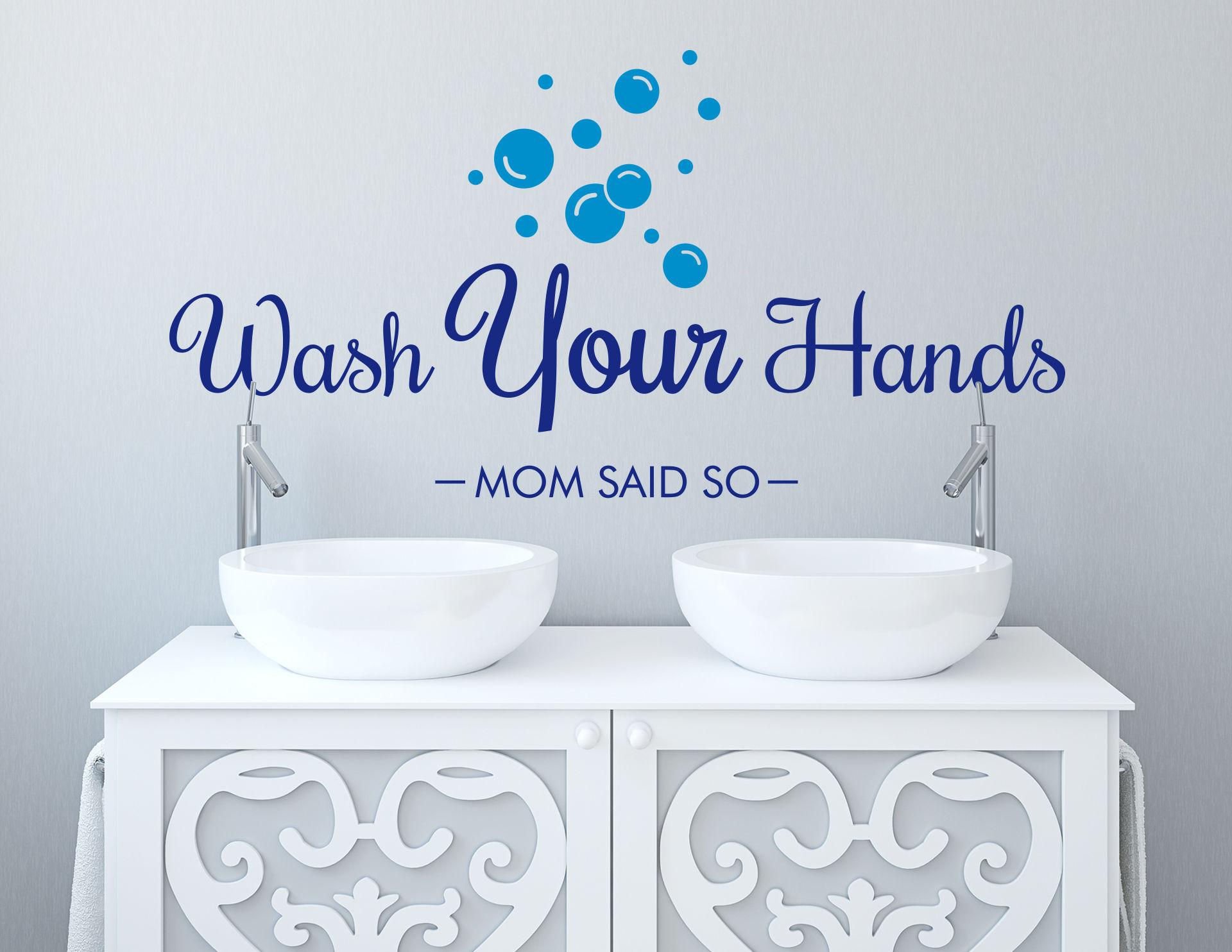 Wandtattoo Wash Your Hands