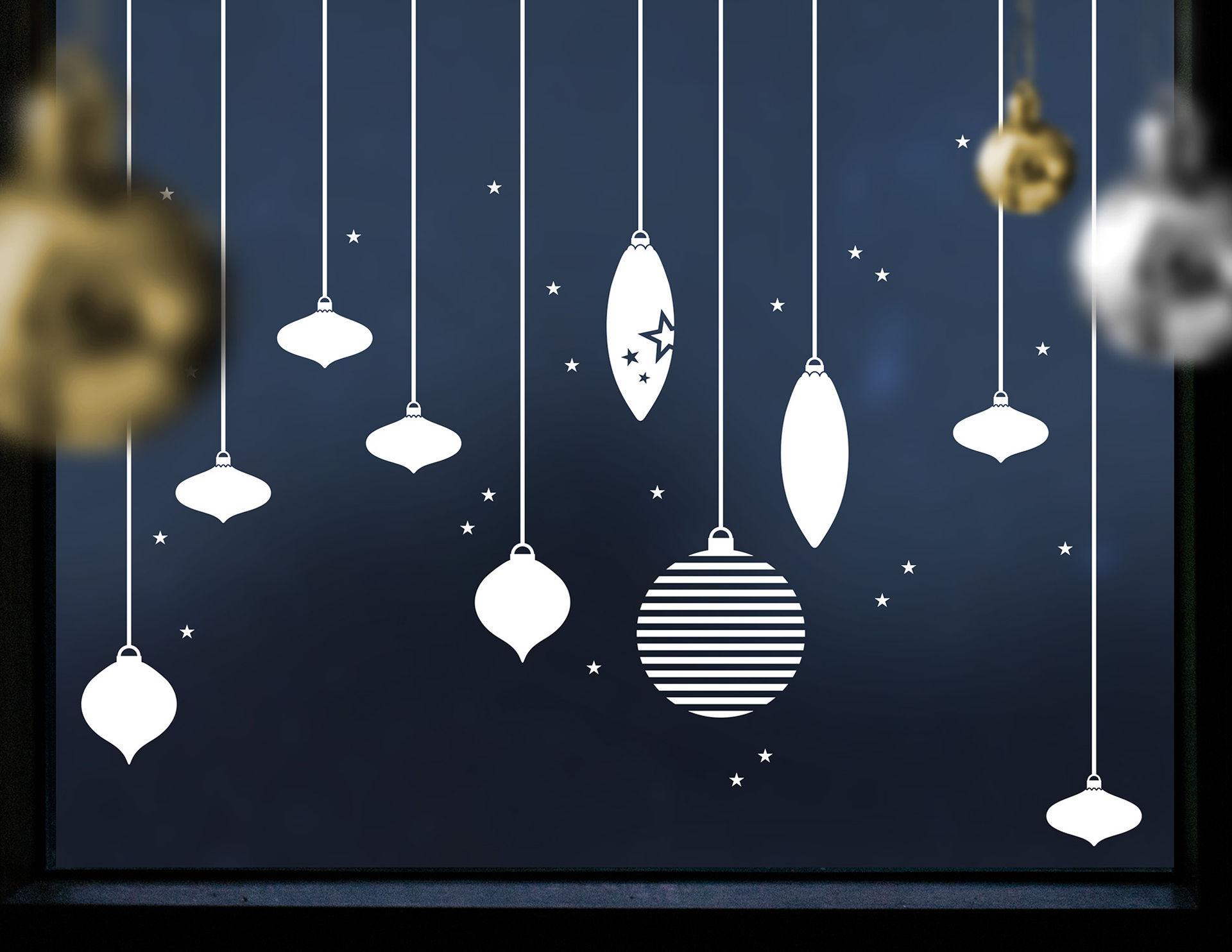 Wandtattoo Weihnachtskugeln Set