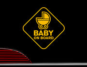 """Autoaufkleber """"Baby-Kutsche"""" mit süßem Kinderwagen"""
