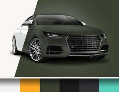 Car Wrapping Effekt-Autofolie matt