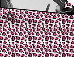 Car Wrapping Autofolie Pink Leo Print
