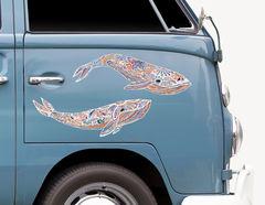 Autoaufkleber Wal Magie Zentangle-Style