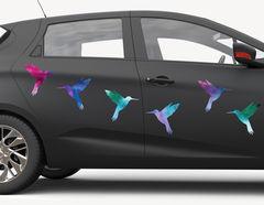 Autoaufkleber Kolibri Watercolor