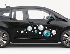 Autoaufkleber Diamanten & Perlen
