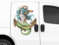 Autoaufkleber Meerjungfrau Pearlia