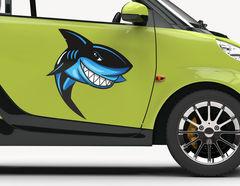 Autoaufkleber Haifisch Chucky