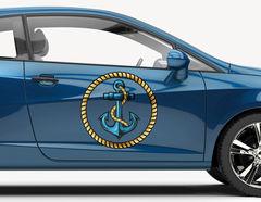 Autoaufkleber Anker-Tau-Emblem