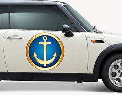 Autoaufkleber Anker Ocean Gold